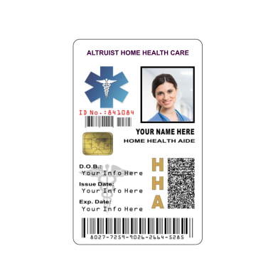 HOME HEALTH AIDE ID BADGE