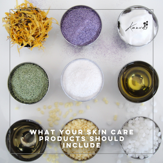 WHAT YOUR SKIN CARE PRODUCTS SHOULD INCLUDE