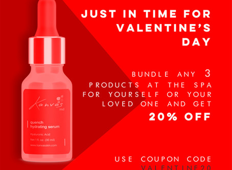 JUST IN TIME FOR VALENTINE'S DAY...  A DISCOUNT ON KANVAS SKINCARE PRODUCTS