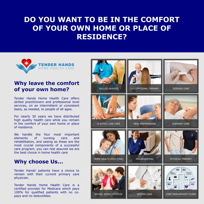 DO YOU WANT TO BE CARED FOR IN THE COMFORT OF YOUR OWN HOME?