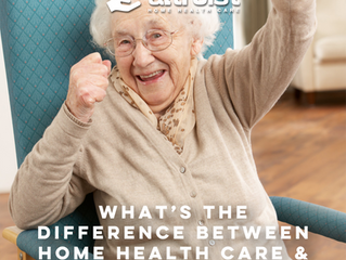 WHAT'S THE DIFFERENCE BETWEEN HOME HEALTH CARE & HOSPICE?