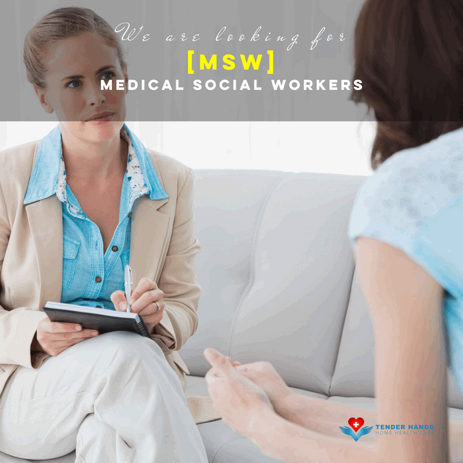 WE ARE LOOKING FOR MEDICAL SOCIAL WORKERS [MSW]