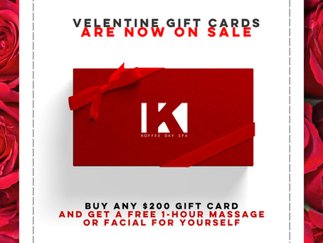 VALENTINE'S DAY GIFT CERTIFICATES ARE NOW ON SALE...  Buy a Gift Certificate For Your Loved One