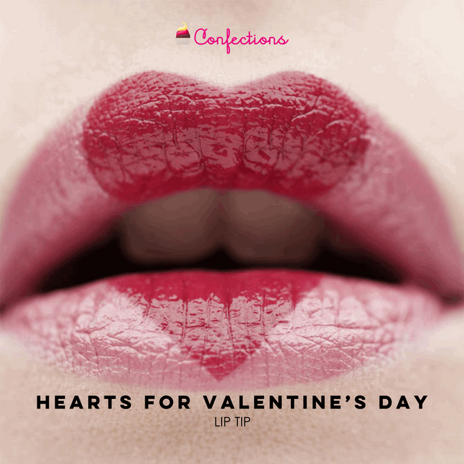 HEARTS FOR VALENTINE'S DAY [LIP TIP]