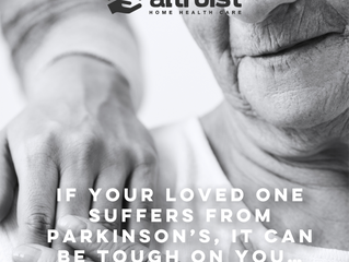 IF YOUR LOVED ONE SUFFERS FROM PARKINSON'S, IT CAN BE TOUGH ON YOU…