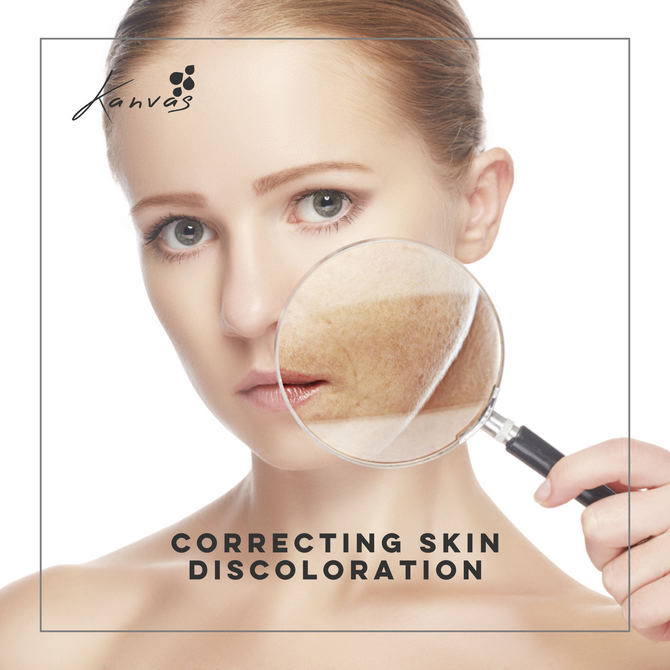 CORRECTING SKIN DISCOLORATION