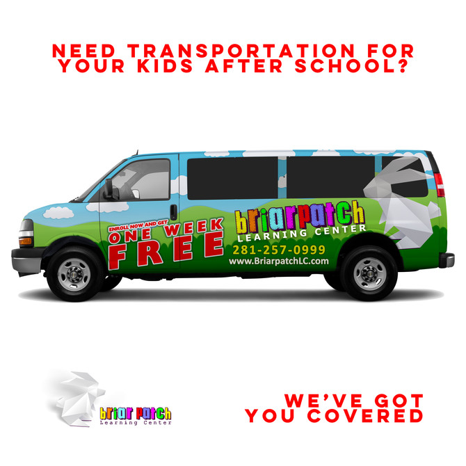 DO YOU NEED A RIDE FOR YOUR CHILDREN AFTER SCHOOL? WE'VE GOT YOU COVERED!