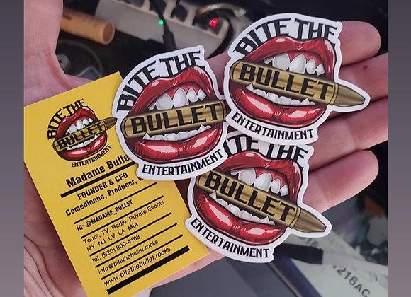 """Bite The Bullet"" Classic Sticker"