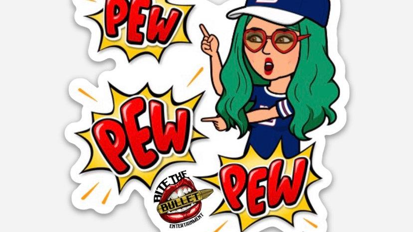 """Pew Pew"" Sticker"
