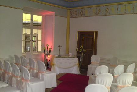 kirchliche Trauung im Carl-Orff-Saal...