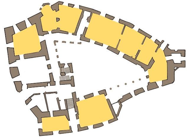 Schloss Pertenstein Grundriss 1. OG