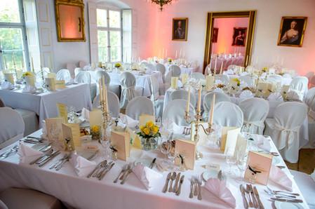 elegantes Dinner in den Fürstenzimmern