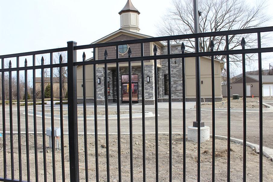 vintage house aluminum fence