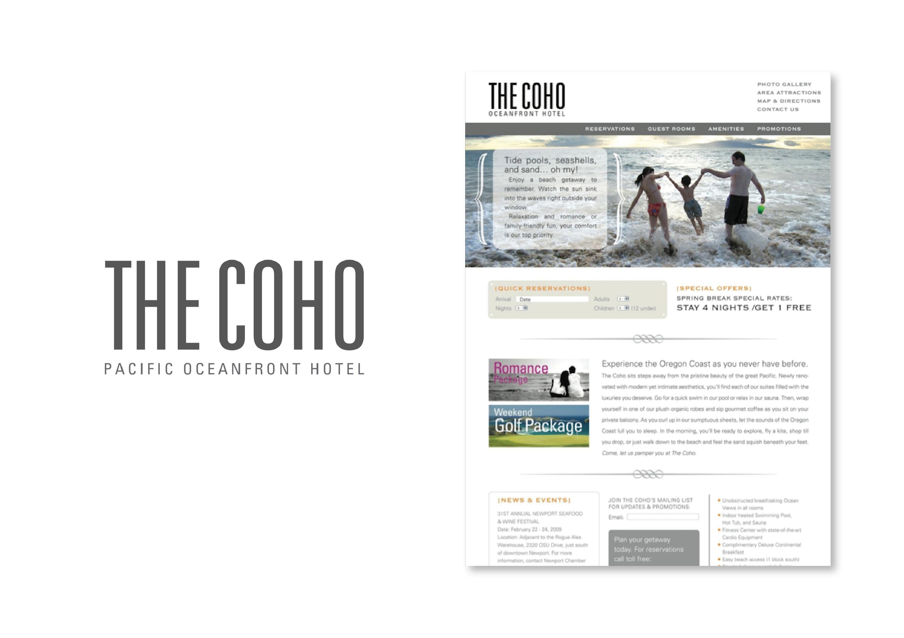 The Coho Hotel Brand/Web