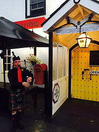 Scottish bagpipe payer from St Andrews Day