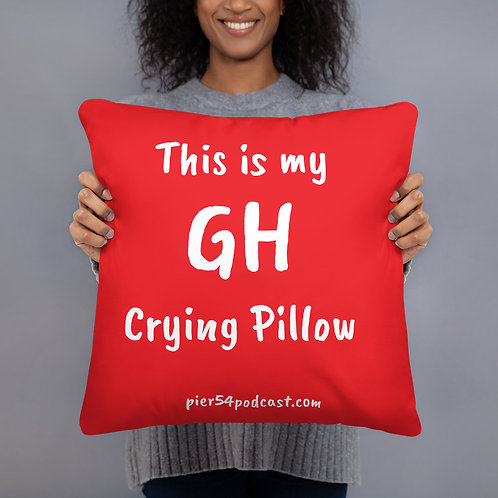 This Is My GH Crying Pillow -- Red