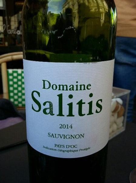 6 x Bottles of Domaine Salitis Pays d'Oc Sauvignon Blanc 2015 Certifié Bio