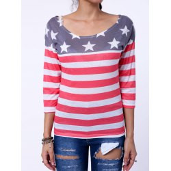 f2433f94fb62 Long Sleeve Distressed American Flag T-Shirt