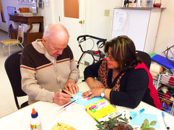 Gord and Maria making cards