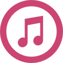 itunes-logo-of-amusical-note-inside-a-ci