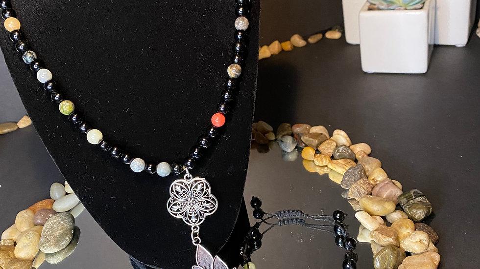 Spiritual elephant necklace w/ bracelet