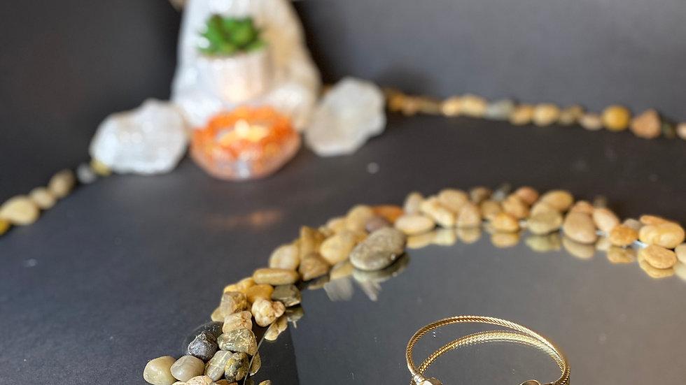 White geode bracelet