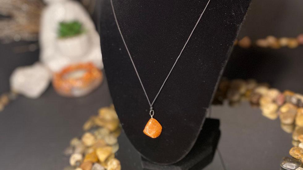 Orange stone pendant
