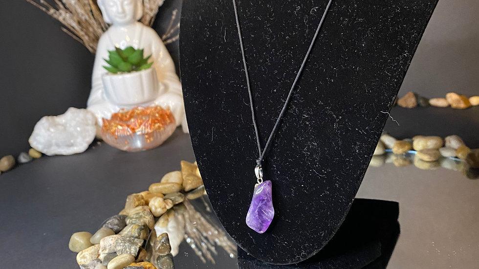 Smaller purple amethyst necklace