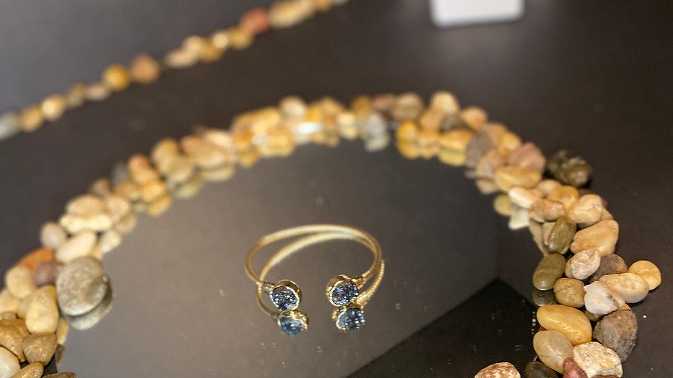 Black geode bracelet