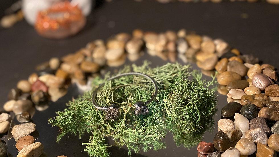 Silver geode bracelet