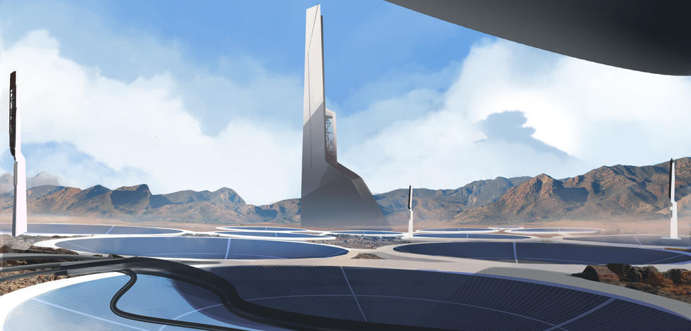 Matte Painting for the Scene