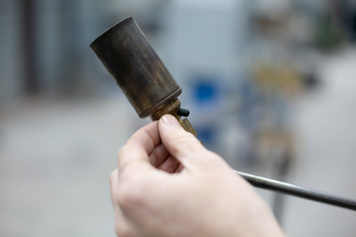 Adjusting the Torch for Silvering Process