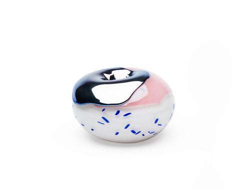 Donut with Blue Sprinkles