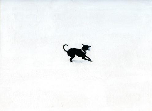 Loretta in snow #4