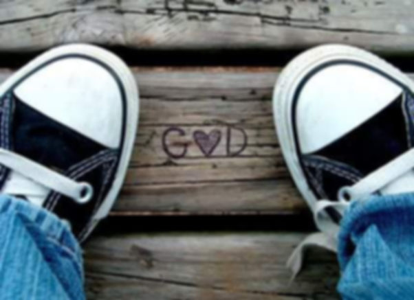 tennis shoes and love God.jpg