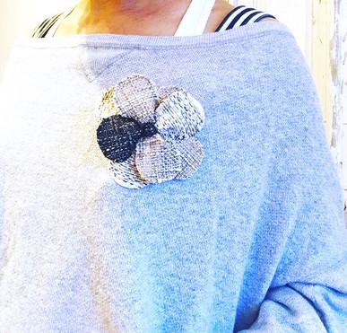 Reborn_tweed corsage