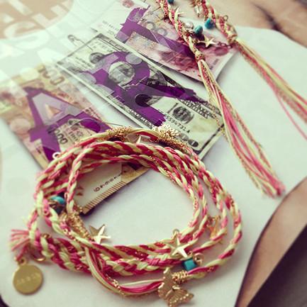 ~2014 collection~Tread earrings & bracel