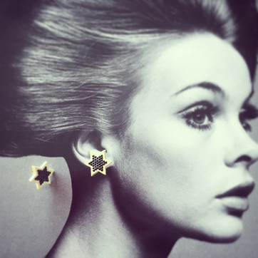 Hexagram Leather Earrings