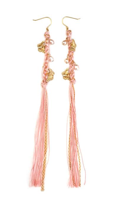 Psyche_earrings_pink thread