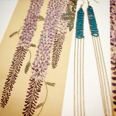 ~2015 collection~Wisteria earrings