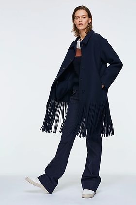 Dorothee Schumacher ALL ABOUT FRINGE coat