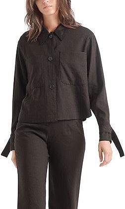 MARC CAIN Hemdjacke aus Leinenmix