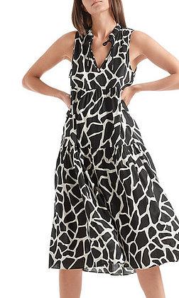 MARC CAINBedrucktes Kleid aus Leinenmix