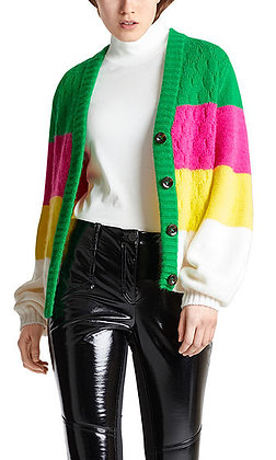 MARC CAIN Strickjacke mit Colourblocking