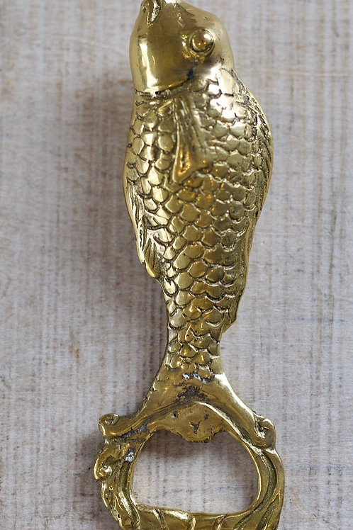 BRASS FISH BOTTLE OPENER