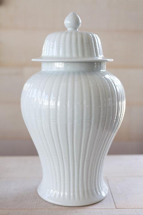 WHITE BAMBOO JAR LN012