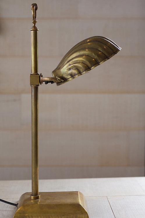 BRASS SCALLOP LAMP