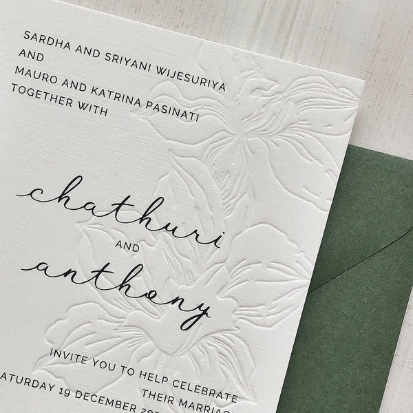 INVITATIONS WITH BLIND LETTERPRESS