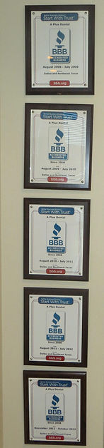 dental office accredited by the BBB