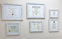 Dental Diplomas and Certifications